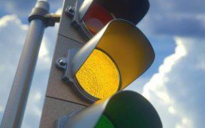 Проезд на желтый сигнал