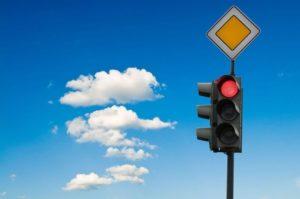 проезде на запрещающий сигнал