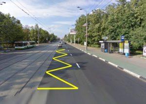 промежуток трамвайных путей
