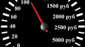 Сумма штрафа ГИБДД за превышение скорости