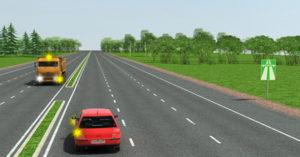 Движение задним ходом по автомагистрали