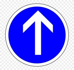 Предписывающий дорожный знак движение прямо