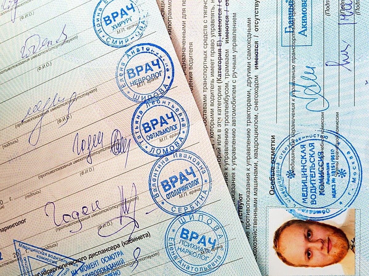 Справка для водительских прав с наркологом и психиатром Москва Ховрино