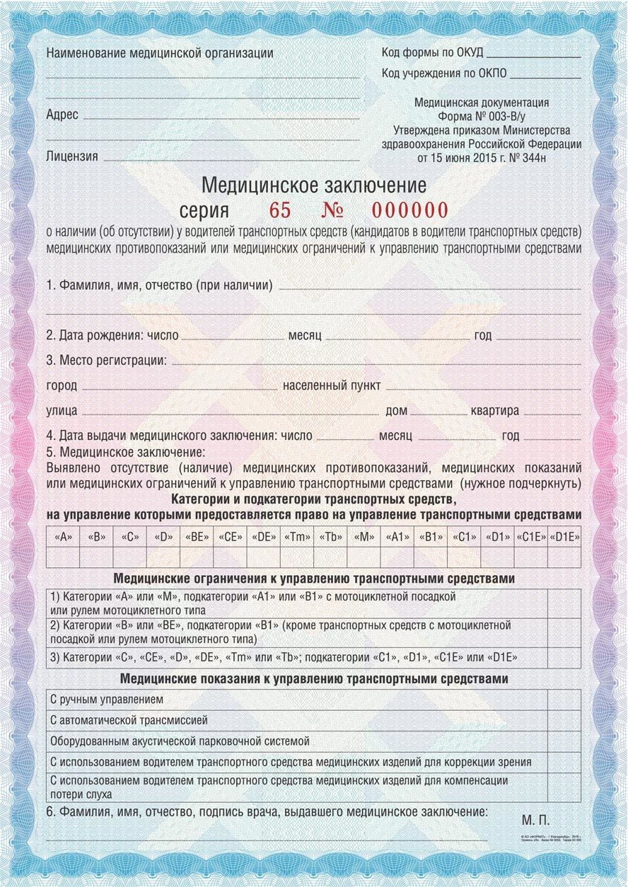 Мед справка водительская где получить Москва Ховрино
