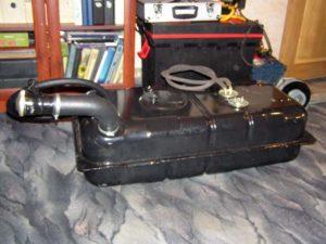 Переоборудование и размещение топливного бака большей емкости