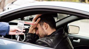подозрением на состояние алкогольного опьянения у водителя