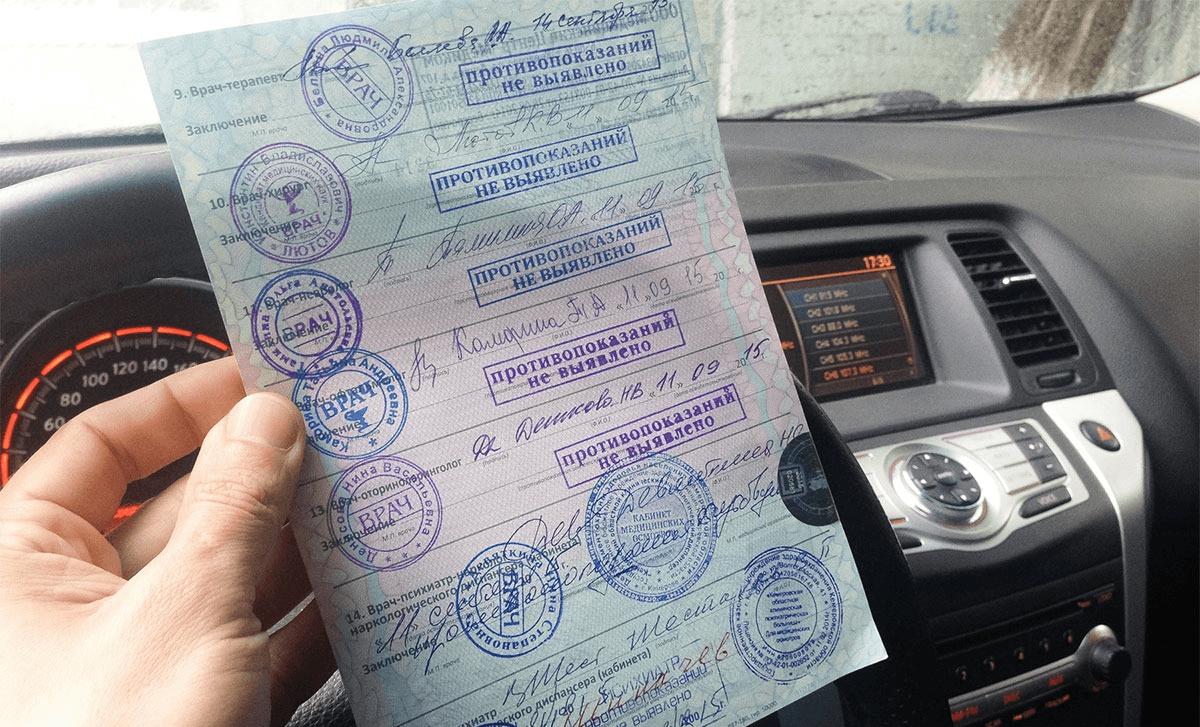 Медицинская справка для водителей при замене прав в 2019 году срок действия